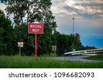 wrong way traffic sign | Shutterstock . vector #1096682093
