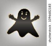ghost sign. vector. blackish... | Shutterstock .eps vector #1096682183