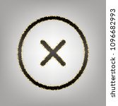 cross sign illustration. vector.... | Shutterstock .eps vector #1096682993