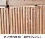 rusty surface of metal plate... | Shutterstock . vector #1096701437