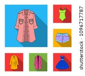 women clothing flat icons in...   Shutterstock .eps vector #1096717787