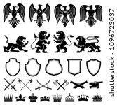 heraldic symbols vector set.... | Shutterstock .eps vector #1096723037