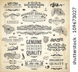 vector collection  calligraphic ... | Shutterstock .eps vector #109673027