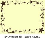 vintage floral background with... | Shutterstock . vector #109673267