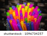 colorful drinking straws | Shutterstock . vector #1096734257