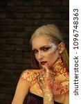 fashion woman model posing....   Shutterstock . vector #1096748363