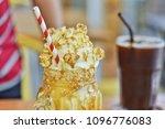 caramel popcorn drinks taste... | Shutterstock . vector #1096776083