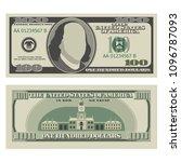 one hundred dollar bill. 100...   Shutterstock .eps vector #1096787093
