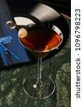 vinyl manhattan cocktail on bar ... | Shutterstock . vector #1096798223