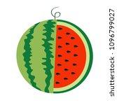 watermelon whole ripe green... | Shutterstock .eps vector #1096799027