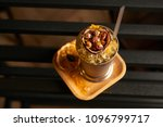mariachi cocktail on bar table. ... | Shutterstock . vector #1096799717