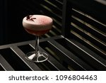 classical katana cocktail on... | Shutterstock . vector #1096804463