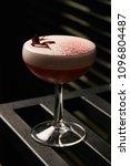 classical katana cocktail on... | Shutterstock . vector #1096804487