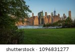 sunrise over manhattan view... | Shutterstock . vector #1096831277