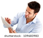 Businessman Using A Tablet...