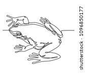 frog one line drawing ... | Shutterstock .eps vector #1096850177