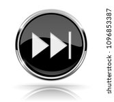 black round media button. fast... | Shutterstock . vector #1096853387