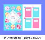 unique concept brochure design | Shutterstock .eps vector #1096855307