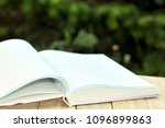 book with open empty white... | Shutterstock . vector #1096899863