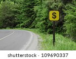 a dollar sign on a side of a... | Shutterstock . vector #109690337