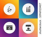 modern  simple vector icon set... | Shutterstock .eps vector #1096923407