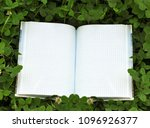 book with open empty white... | Shutterstock . vector #1096926377