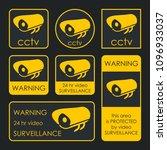 cctv camera. security... | Shutterstock .eps vector #1096933037