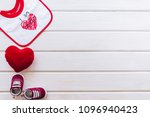 baby concept with shoe... | Shutterstock . vector #1096940423