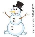snowman   Shutterstock .eps vector #109695323