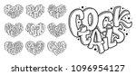 vector set of cocktails names ... | Shutterstock .eps vector #1096954127