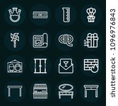 set of 16 other outline icons... | Shutterstock .eps vector #1096976843