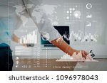 investor analyzing stock market ... | Shutterstock . vector #1096978043