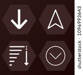 outline  set of 4 arrows icons... | Shutterstock .eps vector #1096993643