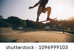 skateboarder skateboarding on... | Shutterstock . vector #1096999103