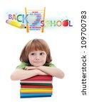 child preparing for elementary... | Shutterstock . vector #109700783