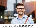 portrait of young entrepreneur. ... | Shutterstock . vector #1097025833