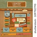 vintage web design elements 2 | Shutterstock .eps vector #109702793