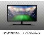 modern smart tv set 3d vector... | Shutterstock .eps vector #1097028677