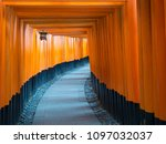 Stock photo fushimi inari shrine taisha shinto shrine of god inari there are over vibrant orange torii 1097032037