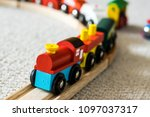 close up of a toddlers wooden... | Shutterstock . vector #1097037317