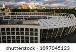 kiev ukraine may 07  aerial... | Shutterstock . vector #1097045123