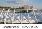 kiev ukraine may 12  aerial... | Shutterstock . vector #1097045327