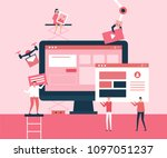 desktop application   flat... | Shutterstock .eps vector #1097051237