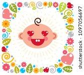 cute baby cartoon vector flat...   Shutterstock .eps vector #1097056697