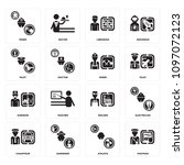 set of 16 simple editable icons ... | Shutterstock .eps vector #1097072123
