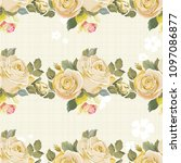 seamless floral pattern with... | Shutterstock .eps vector #1097086877