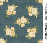 seamless floral pattern with...   Shutterstock .eps vector #1097086913