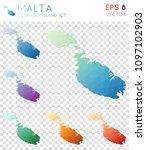 malta geometric polygonal ... | Shutterstock .eps vector #1097102903