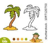 coloring book for children ... | Shutterstock .eps vector #1097120753
