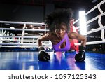 young athlete woman in boxing... | Shutterstock . vector #1097125343